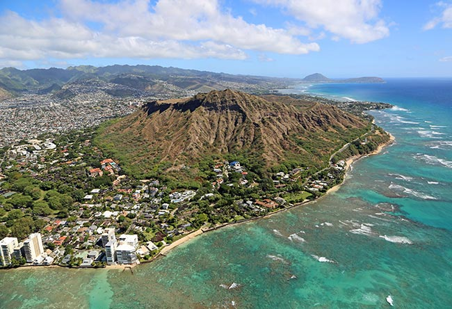 Diamond Head Crater at Honolulu
